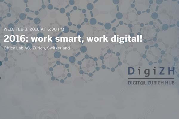 3 fevrier 2016 - événement digital à Zurich