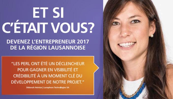 Lausanne région: Prix PERL 2017